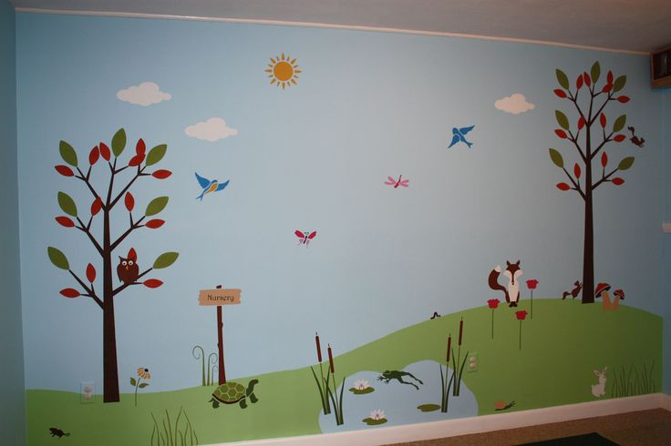 17 best ideas about church nursery decor on pinterest for Church nursery mural