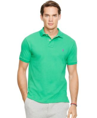 Polo Ralph Lauren Men\u0027s Classic-Fit Mesh Polo Shirt - Men\u0027s Brands - Men -