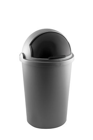 This round plastic bin has a removable lid that opens and closes easily. The removable top with handles makes for easy cleaning. Available 12l, 25l and 50l.