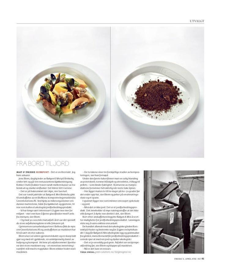 Great restaurant, fantastic food, happy client: Bølgen, Briskeby.