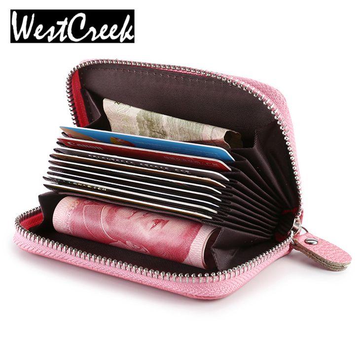 Женщины молнии кредитной карты держатель Лакированной кожи моды держателя карты выдвижной id держатель сумки, 8 цвета