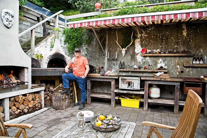 Real Kitchens: Al Brown's Charcoal Heaven - My house is right by the beach, on the south coast of Wellington. I designed the outdoor kitchen area myself, out the back of the house, where it's sheltered.