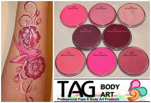 TAG Цветные Образцы | TAG лица Краски | TAG теле
