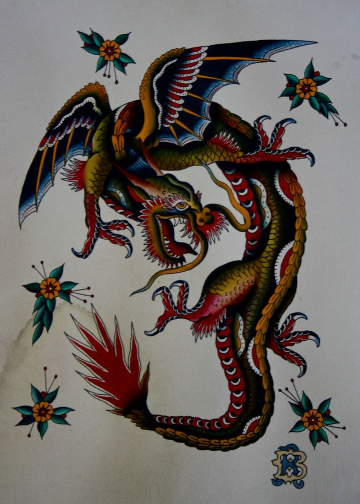 15 best dragon traditional tattoo images on pinterest dragon tattoos tattoo ideas and tattoo. Black Bedroom Furniture Sets. Home Design Ideas