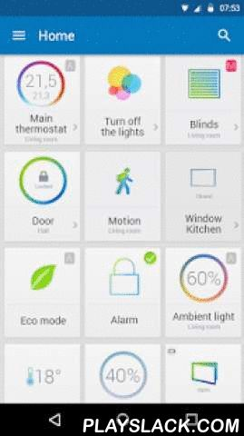 TapHome Official  Android App - playslack.com ,  TapHome is a next generation smart home system. It comes with revolutionary concept of Smart Rules. They are cool plugins which let you control your home yourselves. No need for you to call a service person who would change system scripts. Smart Rules do heavy scripting under the hood, you get a clean inferface. Backend architecture is based on cloud. Cloud allows you to control your home when away without any need for special network…