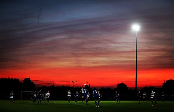 Spectacular Sunset and ... The Mighty Quakers winning at Curzon Ashton .... Well done whoever snapped this!