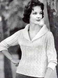 "Knit Slipover Sweater     size 4(3.5mm), 6(4mm) circulars     fine (2)     gauge: 9stitches &8rows = 1"" (2.5cm) in pattern stitch     intermediate"