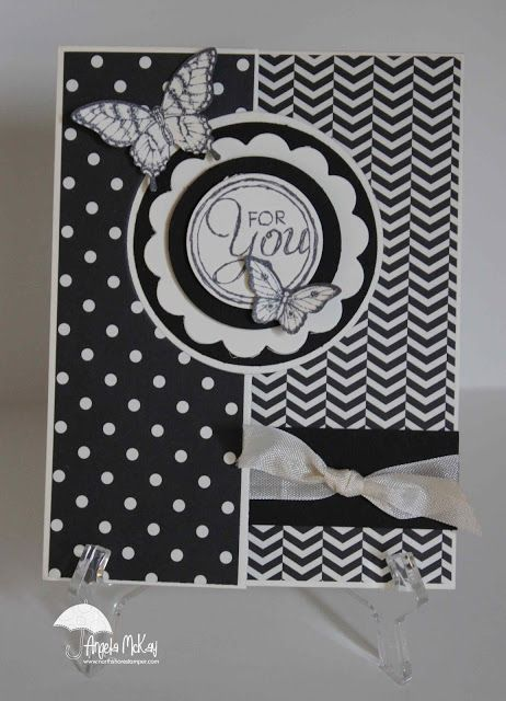 Love Angela's Modern Medley dsp flip card! She used Chalk Talk & Papillon Potpourri with the Circle Thinlits Card Die.