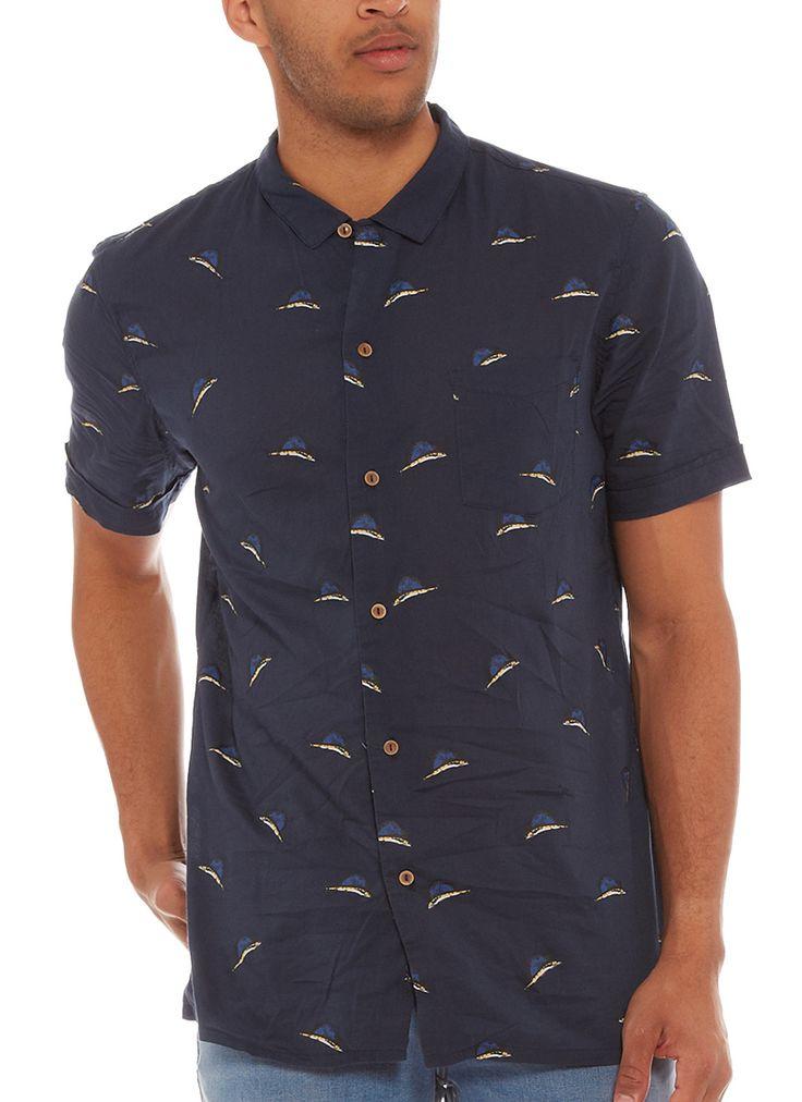 Stussy Sailfish Shirt  http://www.mode.co.nz/men/shirts/stussy-sailfish-shirt.html  $90NZD