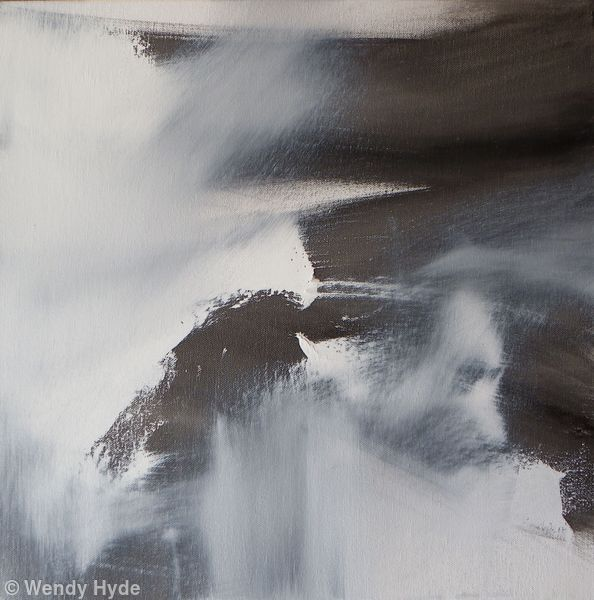 Abstraction in Monochrome study 10 - Oil on canvas sold