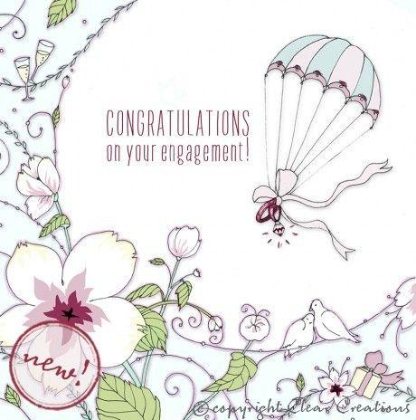 Wedding Parachute Greeting Card Blank Inside GBP320