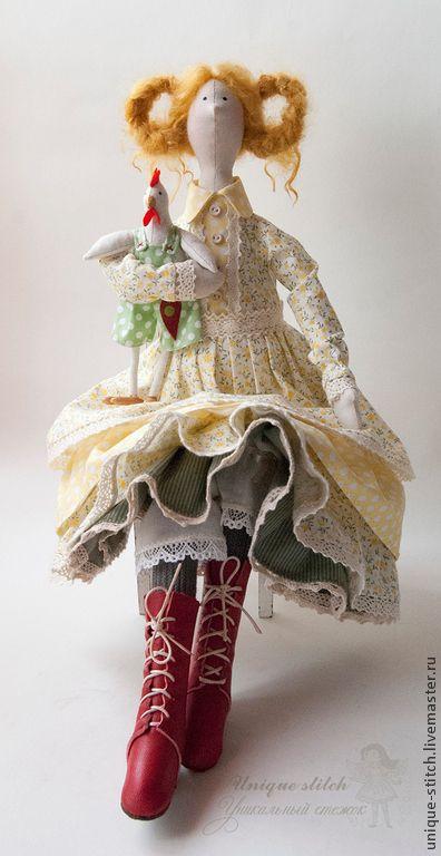 Купить Кэтрин - лимонный, кукла Тильда, текстильная кукла, подарок, желтый, интерьерная кукла