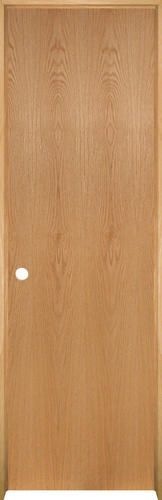 "Mastercraft® Ready-to-Finish Oak Flush Prehung Interior Door at Menards®: Mastercraft® 24"" W x 80"" H Ready-to-Finish Oak Flush Prehung Interior Door - Right Inswing"