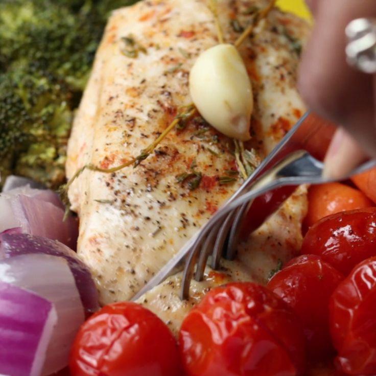Roasted Chicken And Rainbow Veggies