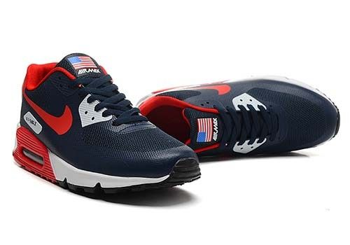 new product 004ac 467d9 ... hyperfuse infrarouge paris sportswear premium chaussures 0ed9c 46c7c   real nike womens air max 90 american flag independence navy red de9db faa0f