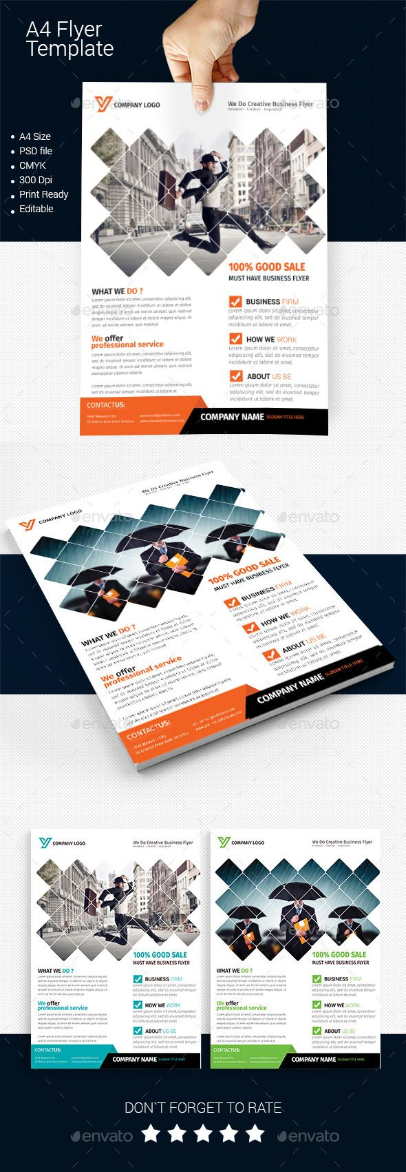 A4 Business Flyer Template #design Download…