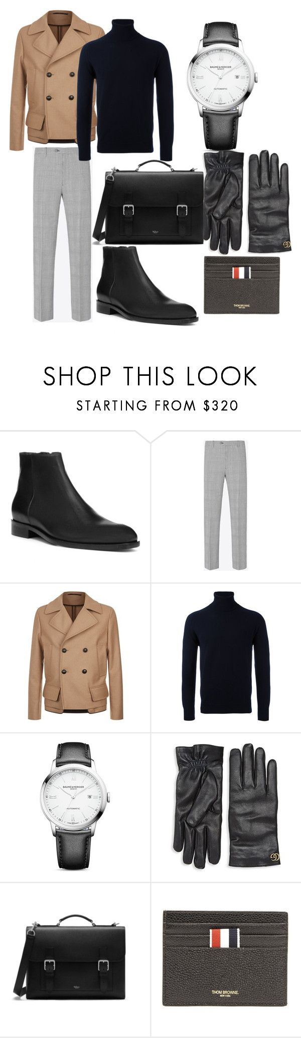 """NYC casual"" by luc-pizzone on Polyvore featuring Donald J Pliner, Maison Margiela, Versace, AMI, Baume & Mercier, Gucci, Mulberry, Thom Browne, men's fashion and menswear"
