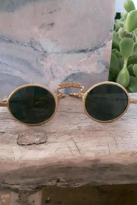 RARE 1800s Antique Vintage Chinese Sunglasses by RULEDBYWOLVES