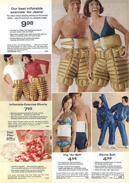 inflatable exercise 'Air Jeans' 1972 | via retro-space: Magazine, Fashion, Doll, Style, Retro Spac, Vintage, 70S, Catalog, Polyvore