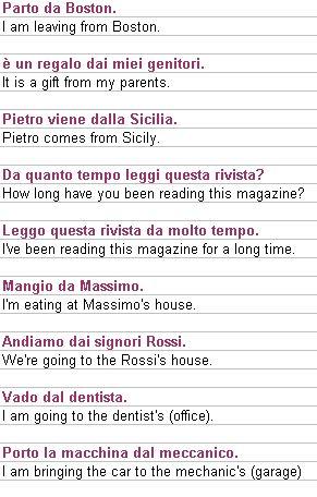 LEARNING ITALIAN - Preposition