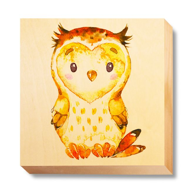 CHI 052 Children's Art - Watercolour Owl
