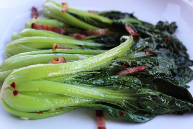 bok choy with sweet soy glaze recipes dishmaps grilled bok choy ...