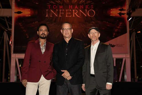 Red Carpet in Florence for the world premiere of Inferno movie. An evening gala for the cinema and for the city of Florence.