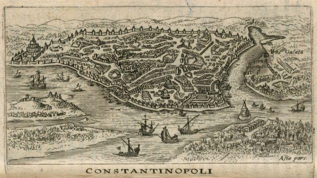 Χάρτης της Κωνσταντινούπολης. - BUSBECQ, Ogier Ghiselin de - ME TO BΛΕΜΜΑ ΤΩΝ ΠΕΡΙΗΓΗΤΩΝ - Τόποι - Μνημεία - Άνθρωποι - Νοτιοανατολική Ευρώπη - Ανατολική Μεσόγειος - Ελλάδα - Μικρά Ασία - Νότιος Ιταλία, 15ος - 20ός αιώνας