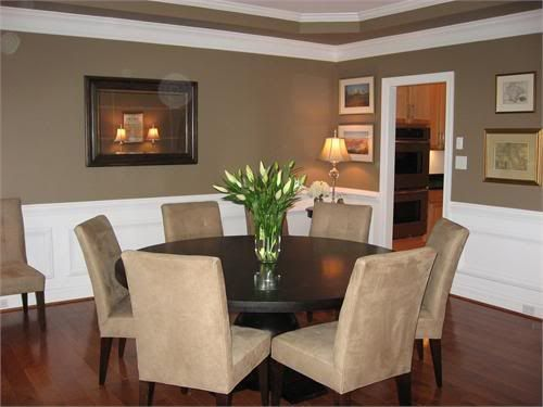 2 Tone Walls W Picture Frame Detail On Bottom Half | Dining Rooms |  Pinterest | Walls, Room And Paint Ideas Part 20