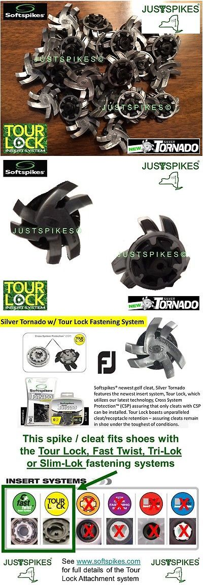 Golf Spikes 66814: 54 New Silver Tornado Tour Lock Fast Twist Slim Tri Lok Golf Spikes Justspikes BUY IT NOW ONLY: $45.71