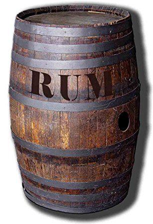 Pappaufsteller Barrel 'O' Rum - Rum Faß Aufsteller Standup Figur Kinoaufsteller Pappfigur Cardboard Lebensgroß Life-Size Standup