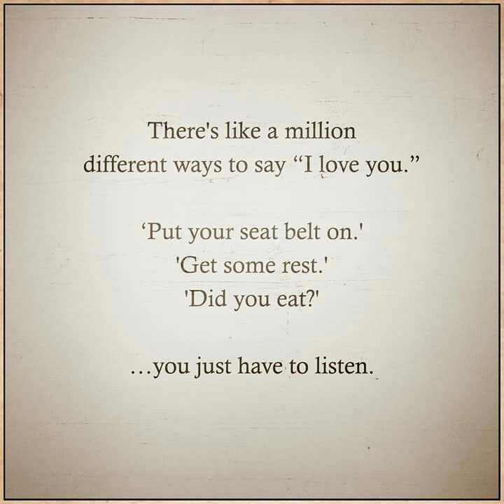Quotes about love and care ! There are many ways to show your love !! #love #quotes #life #feelings ❤🔝🔝🔝