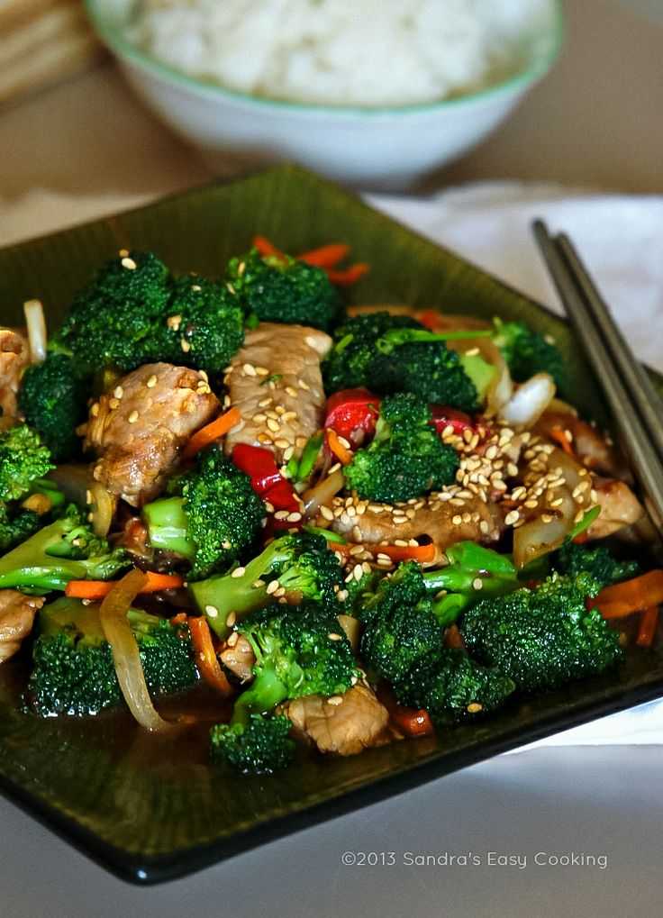 {China} Chinese Broccoli and Pork Tenderloin Stir Fry @SECooking | Sandra