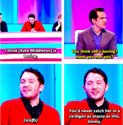 And when he was proud of his fantastic cardigan. | 21 Times Jon Richardson Was The Cutest Man In Britain