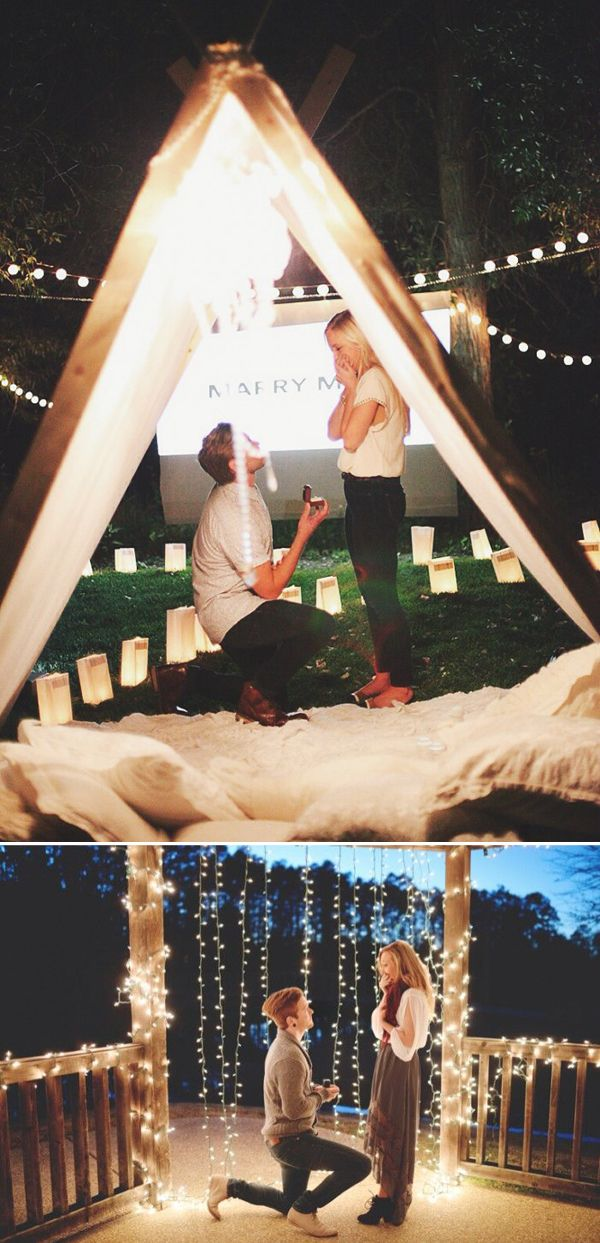 25 Seriously Romantic Proposal Locations and Ideas! Shining Night