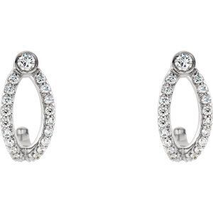 Diamond J Hoop Earrings Click Through For Product Details Or To Locate A Jeweler Near You Mothersday