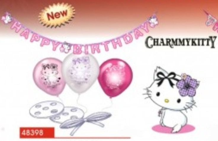 Charmmy Kitty Hearts deco set | BALONKY .CZ