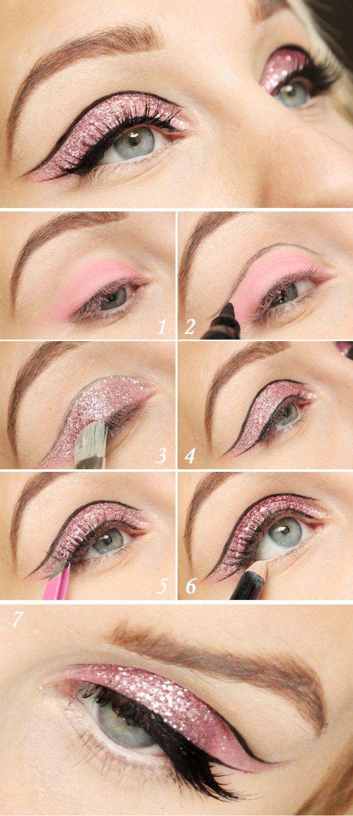Pink Glitter eyemakeup tutorial