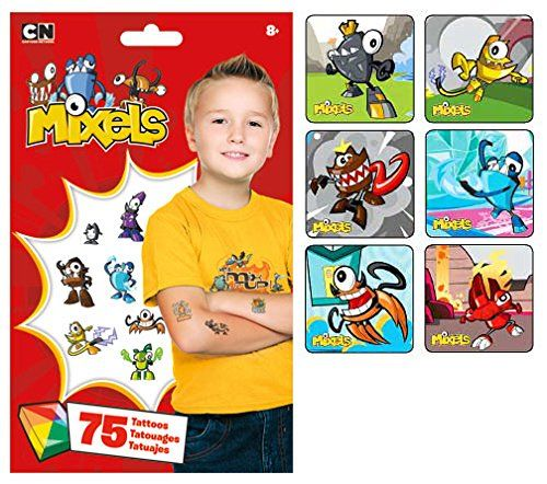 Cartoon Network Lego Mixels Party Favor Supply Pack of 90 Stickers and 75 Lego Mixels Temporary Tattoos LEGO http://www.amazon.com/dp/B00NMLIGO6/ref=cm_sw_r_pi_dp_fHThub1P07D8G