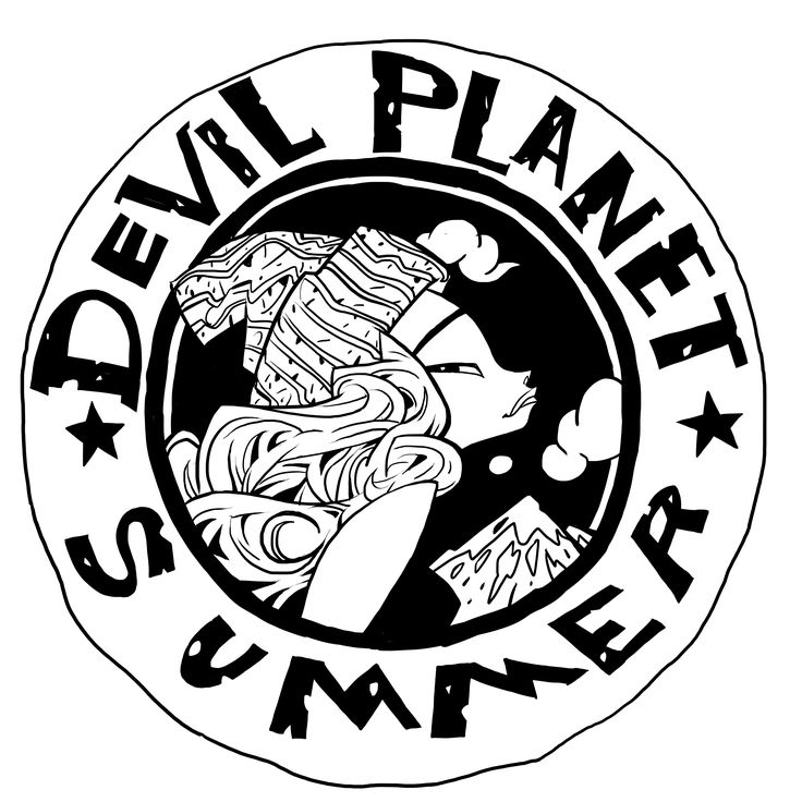 Devil Planet character Summer. facebook.com/kanggoonart facebook.com/devilplanet #art #characterdesign #drawing #inking #hat #sketch #ink #logo #devilplanet #kanggoon