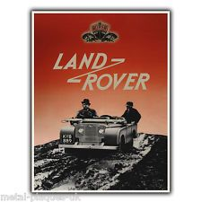 Land Rover metal wall sign