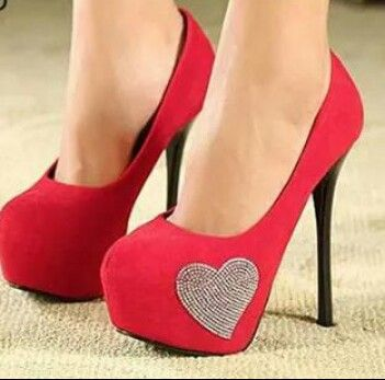 Play pink heels with a cute heart