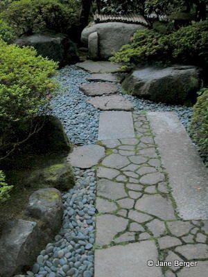 stone path - reusing broken concrete from job site