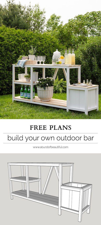 Summer entertaining outdoor bar plans pour meuble for Plan amenagement jardin exterieur