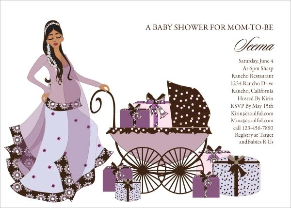 Buggy Diva - Indian Baby Shower Invitations by #Soulfulmoon