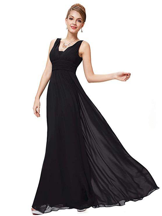 18a1cdcf49ea4 Ever-Pretty Double V-Neck Elegant Ruched Waist Ladies Long Evening Dress  08110 -