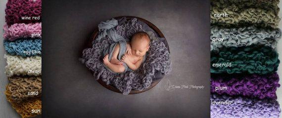Newborn photography prop Bump Blanket by MoonlightLittleKnits