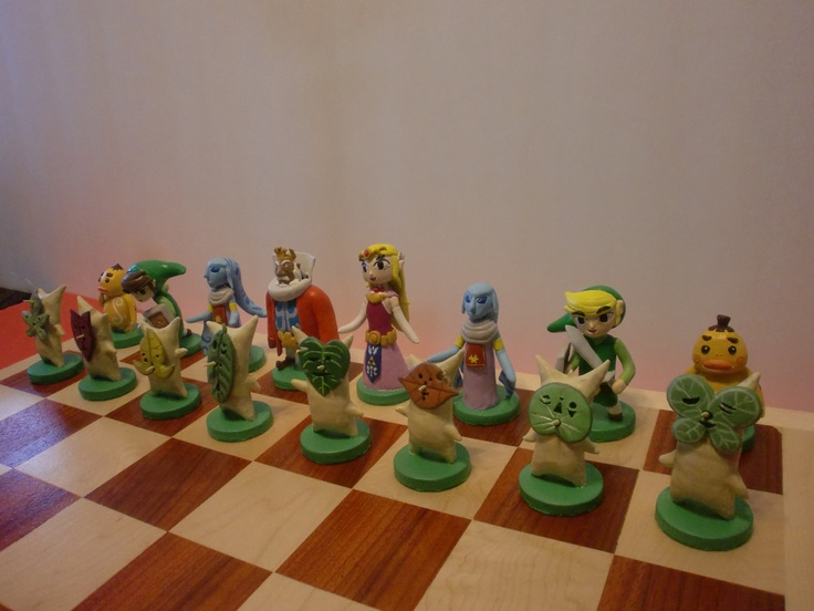 Zelda Wind Waker chess set. I can haz now, pls?
