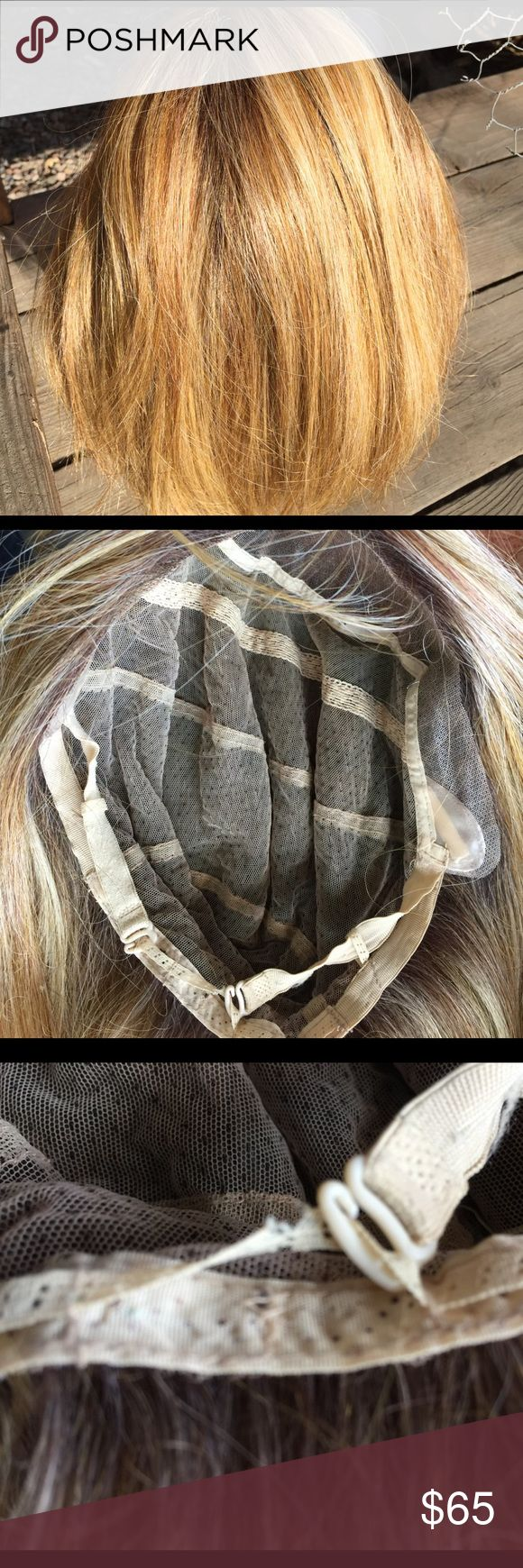 Hand tied wig This is a 100% hand tied wig  it is a bob cut front lace. The part where it hooks in is a little loose but can be sewn. There is a close up of that area it isn't anything drastic nothing that can't be fixed yourself if u can sew.  Aside from that it's in good shape Accessories Hair Accessories