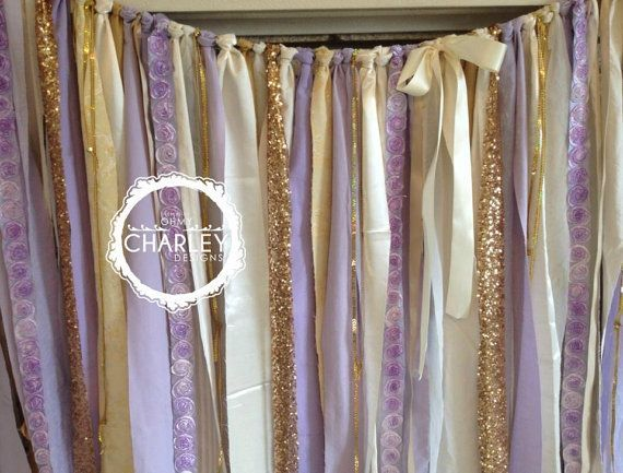 lavender and gold baby shower - Google Search